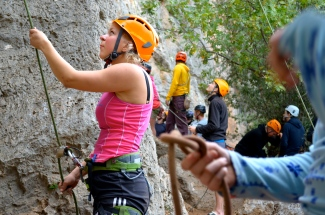 Ingrid belaying