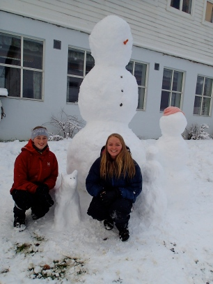 Snow man family!