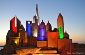 Dubai skyline sand sculpture