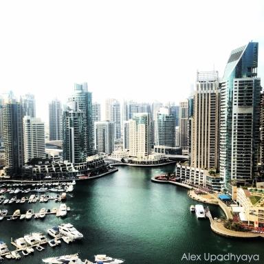 Dubai Marina from dad's apartment