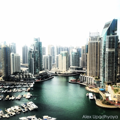 Dubai Marina from dad's apartment