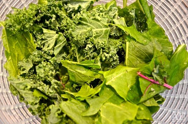 Chopped greens
