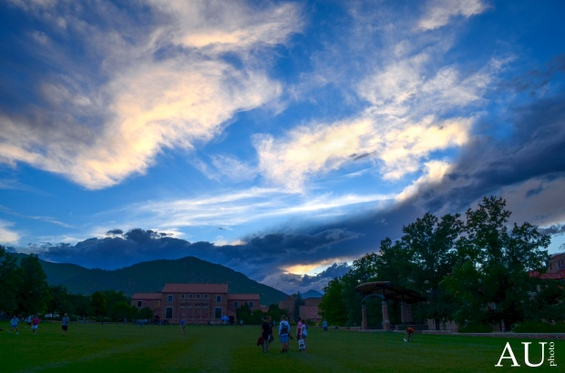 Farrand Field in the evening