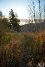Trail during sunrise