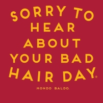 Sorry to hear about your bad hair day