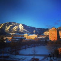 9 degrees and sunny. #boulder #cuboulder #flatirons #gopro
