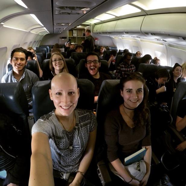 Plane Ride Selfie