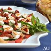 Tomato-Mozzarella Crustinis