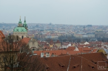 The view of Prague from The Prague Castle