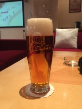 A Czech beer after a long day of touring and shopping.
