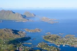 Looking down on the islands of Lofoten